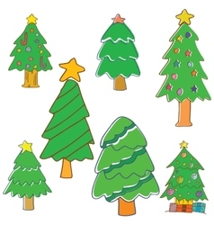 Collection of christmas tree vector
