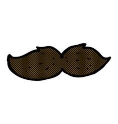 comic cartoon mustache vector image