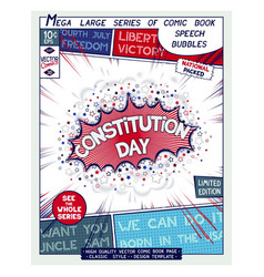 Constitution day usa national holiday vector