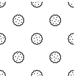 Cookies pattern seamless black vector
