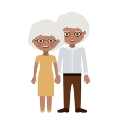 Couple of grandparents cartoon design vector image