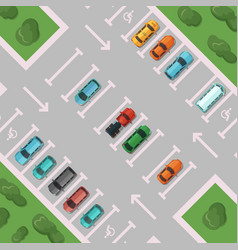 diagonal view parking with places vector image