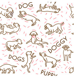 Dog seamless pattern vector