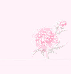 drawing of beautiful peony flower vector image