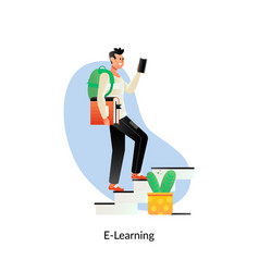 e-learning education internet networking sharing vector image