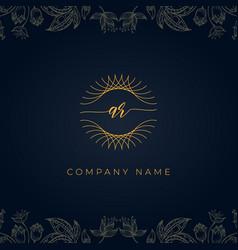 Elegant luxury initial letter ar logo vector