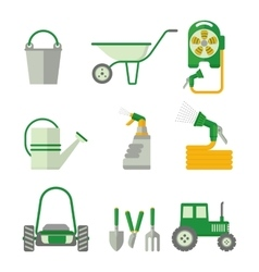 farmer set of gardner equipment vector image