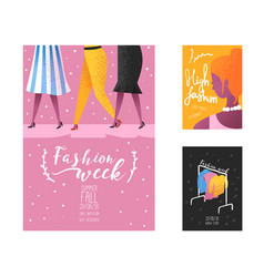 Fashion week poster banner template placard vector