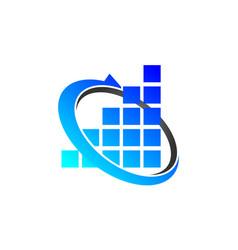 Financial coaching logo design template vector