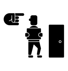 Fired - exit - dismissal icon vector
