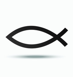 fish - a symbol of the early church vector image