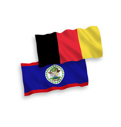 Flags belgium and belize on a white background vector