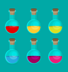 flat chemical icon with background vector image