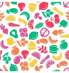 Fruit and vegetables background seamless pattern vector image