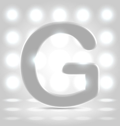 G over lighted background vector image