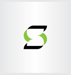 green black symbol letter s logotype sign vector image