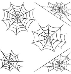 halloween spider web isolated on white background vector image