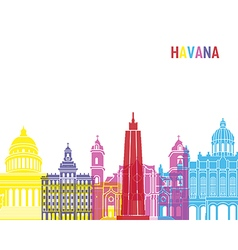 Havana skyline pop vector