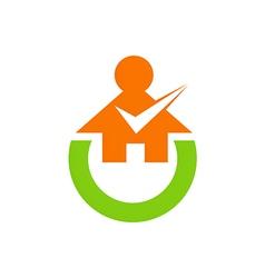 home education survey logo vector image