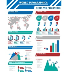 INFOGRAPHIC DEMOGRAPHICS 9 BLUE vector image