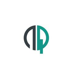 initial letter nq creative design logo vector image