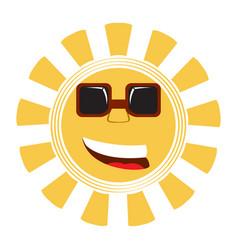 isolated happy sun vector image