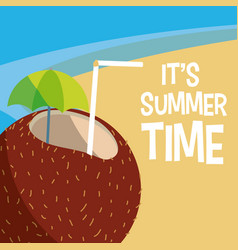 Its summer time design vector