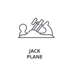 jack plane line icon sign on vector image