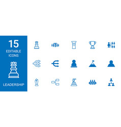 leadership icons vector image