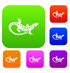 Lizard set collection vector