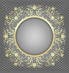Luxury background for design with gold pattern vector