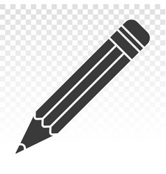 Pencil flat icon for apps or websites vector