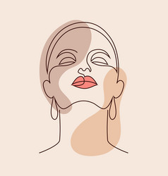 Poster with woman face vector