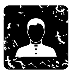 Priest icon grunge style vector image