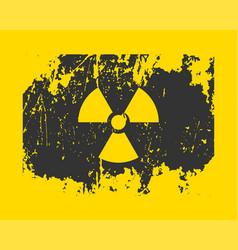radiation icon warning radioactive sign danger vector image