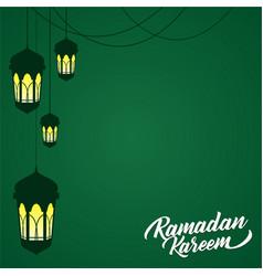 Ramadan lantern background vector