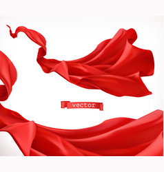 Red curtain 3d realistic vector