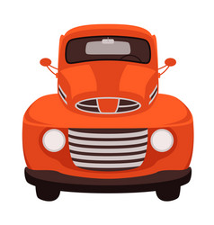 red vintage car flat style vector image