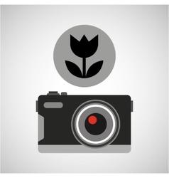 retro camera photographic vector image