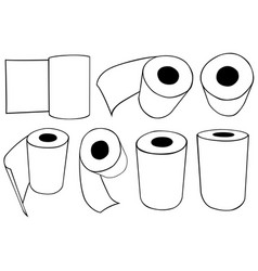rolls of paper towels vector image