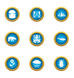 Sparse growth icons set flat style vector