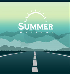summer holiday sun road trip background ima vector image