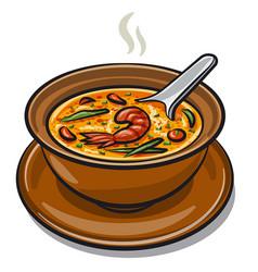 Thai tom yum soup vector