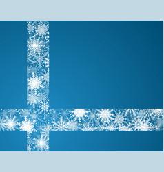 the snowflakes ribbon banner christmas new year vector image