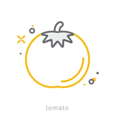 Thin line icons Tomato vector