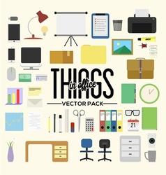 Things in office pack vector