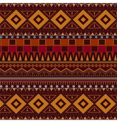 Tribal ethnic seamless pattern on brown background vector