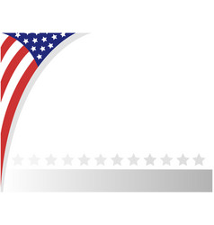 Usa abstract flag border vector