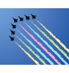 Vector airplane show vector