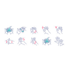 Washing hands cleaning and vector